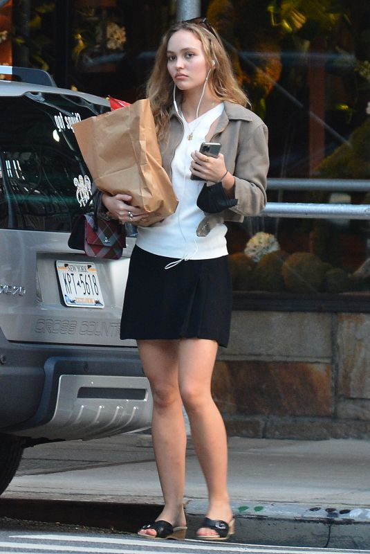 LILY-ROSE DEPP Out Shopping in New York 09/02/2021