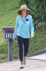 LISA RINNA Out Hiking at Franklin Canyon in Beverly Hills 09/17/2021