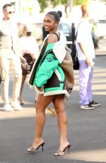 LORI HARVEY Arrives at Coach Fashion Show at New York Fashion Week 09/10/2021