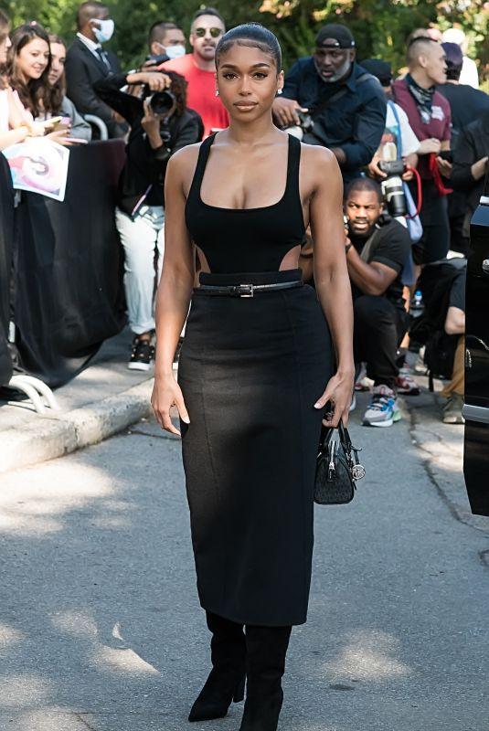 LORI HARVEY Arrives at Michael Kors Show at New York Fashion Week 09/10/2021