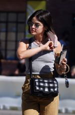 LUCY HALE Heading to a Skincare Clinic in Studio City 09/14/2021