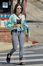 LUCY HALE Leaves Remedy Place in West Hollywood 09/18/2021