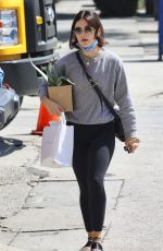 LUCY HALE Shopping for New Plants in Studio City 09/16/2021