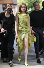 MADELAINE PETSCH Arrives at Jason Wu Show in New York 09/10/2021