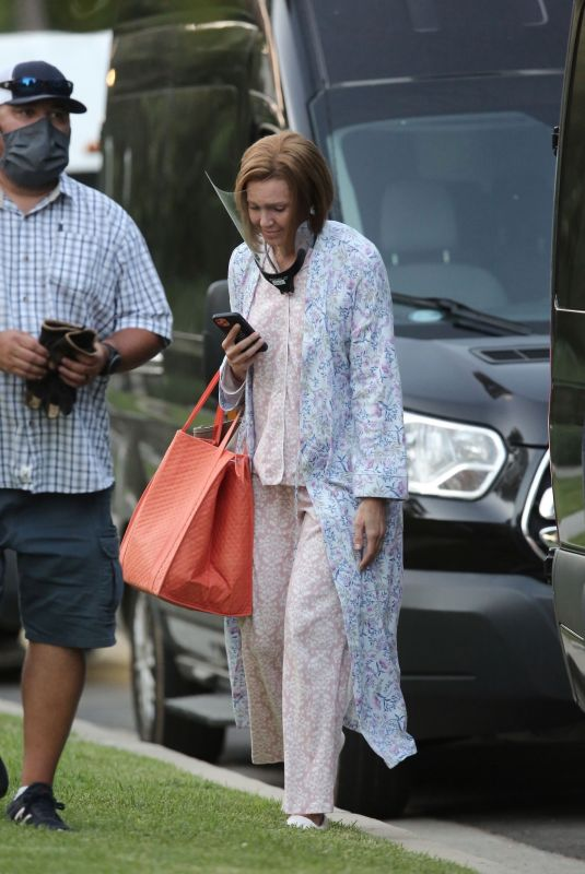 MANDY MOORE on the Set of This is Us, Season 6 in Los Angeles 09/20/2021