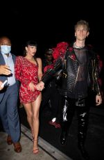 MEGAN FOX and Machine Gun Kelly at Met Gala Afterparty in New York 09/13/2021