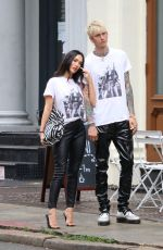 MEGAN FOX and Machine Gun Kelly Posing for a Photo in New York 09/08/2021