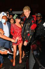 MEGAN FOX Arrives at Justin Bieber