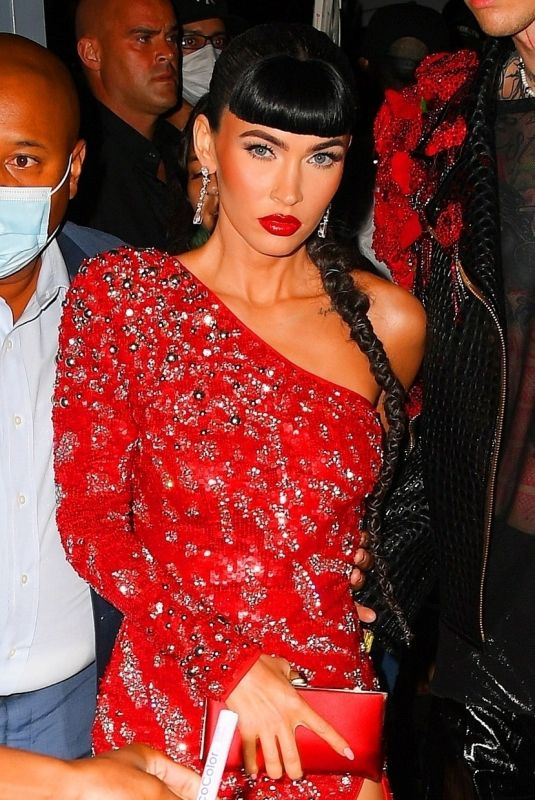 MEGAN FOX Arrives at Justin Bieber's Met After-party in New York 09/13/2021