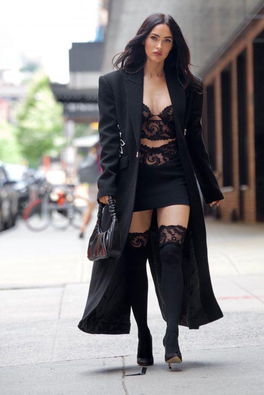 MEGAN FOX Out at New York Fashion Week 09/11/2021
