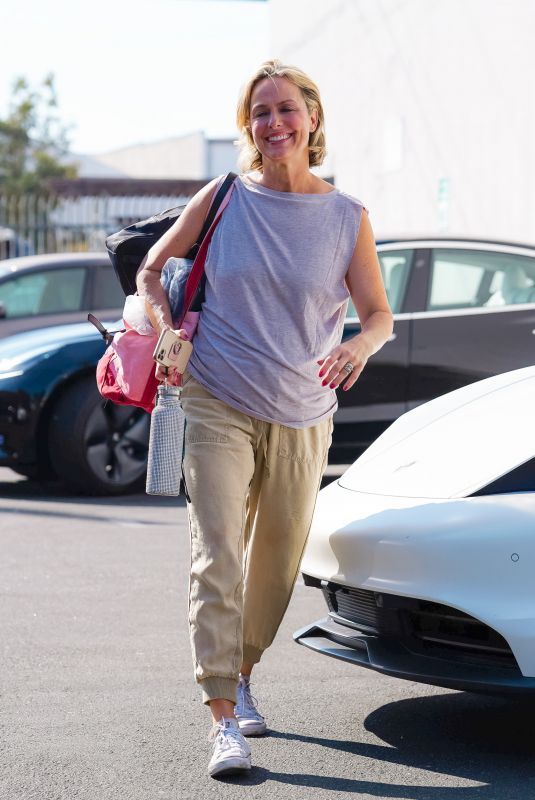 MELORA HARDIN Arrives at DWTS Rehearsal Studio in Los Angeles 09/17/2021