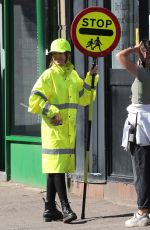 MICHELLE KEEGAN on the Set of Sky TV Drama Brassic in Bacup Lancashire 09/20/2021