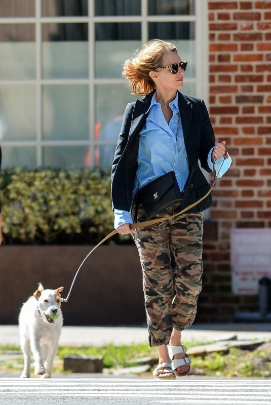 NAOMI WATSS Out with Her Dog in New York 09/26/2021