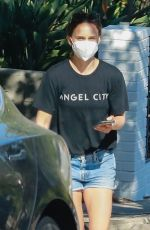 NATALIE PORTMAN in Denim Shorts Out in Los Angeles 09/19/2021