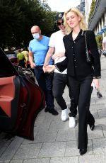 NICOLA PELTZ and Brooklyn Beckham Leaves Their Hotel Bayerischer Hof 09/07/2021