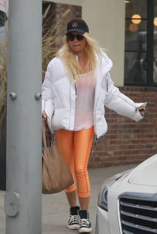 NICOLLETTE SHERIDAN Out for Lunch at Il Pastaio in Beverly Hills 09/27/2021