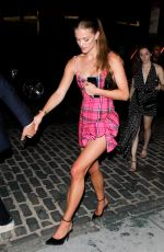 NINA AGDAL Heading to a Met Gala Afterparty in New York 09/13/2021