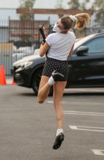 OLIVIA JADE GIANNULLI and Val Chmerkovskiy Leaves DWTS Studio in Los Angeles 09/23/2021