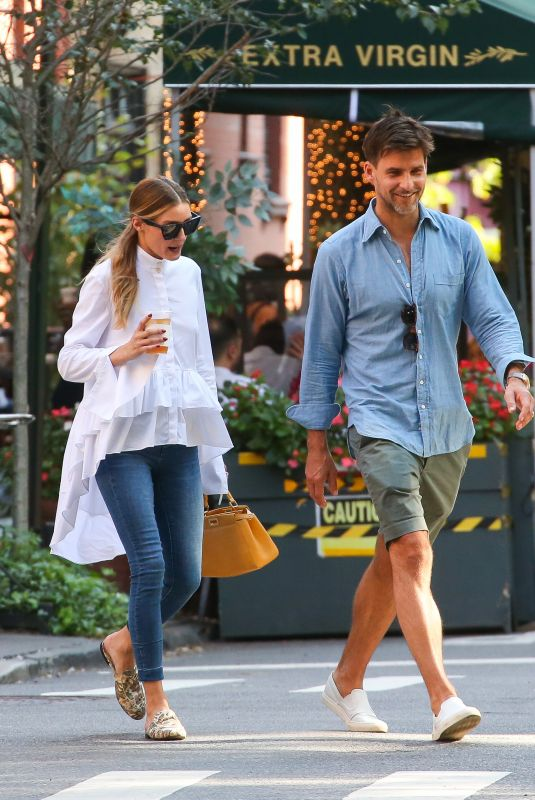 OLIVIA PALERMO and Johannes Huebl Out for Dinner in New York 09/18/2021