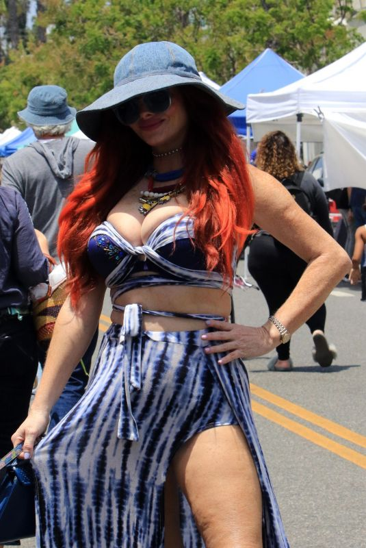 PHOEBE PRICE at a Farmers Market in Los Angeles 09/05/2021