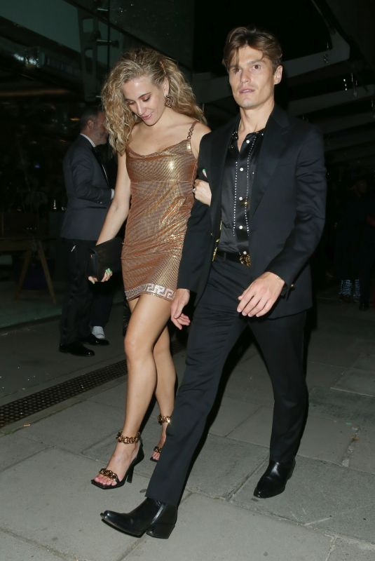 PIXIE LOTT and Oliver Cheshire Night Out in London 09/02/2021