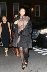 Pregnant KYLIE JENNER at a Birthday Party at Lucali with KENDALL JENNER and Friends in New York 09/09/2021
