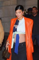 Pregnant KYLIE JENNER Out for Dinner in New York 09/09/2021