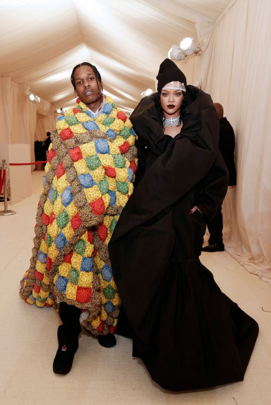 RIHANNA and Asap Rocky at 2021 Met Gala in New York 09/13/2021