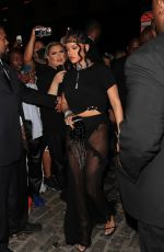 RIHANNA Arrives at Her Met Gala Afterparty in New York 09/13/2021