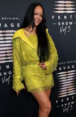 RIHANNA at Savage x Fenty Show, Vol. 3 in Los Angeles 09/22/2021