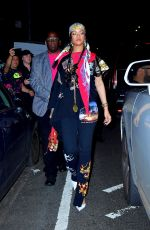 RIHANNA Leaves Carbone in New York 09/14/2021