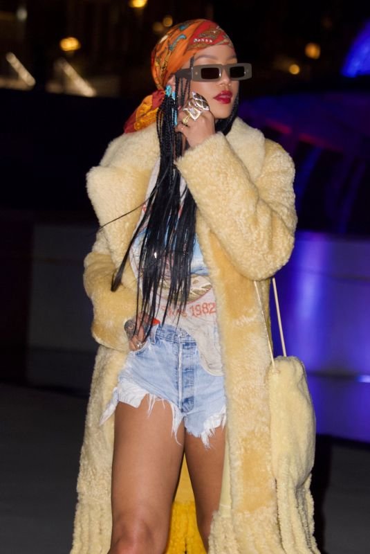 RIHANNA Night Out in Los Angeles 09/04/2021