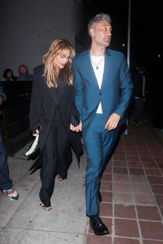RITA ORA and  Taika Waititi Out for Late Night Drinks in Los Feliz 09/18/2021
