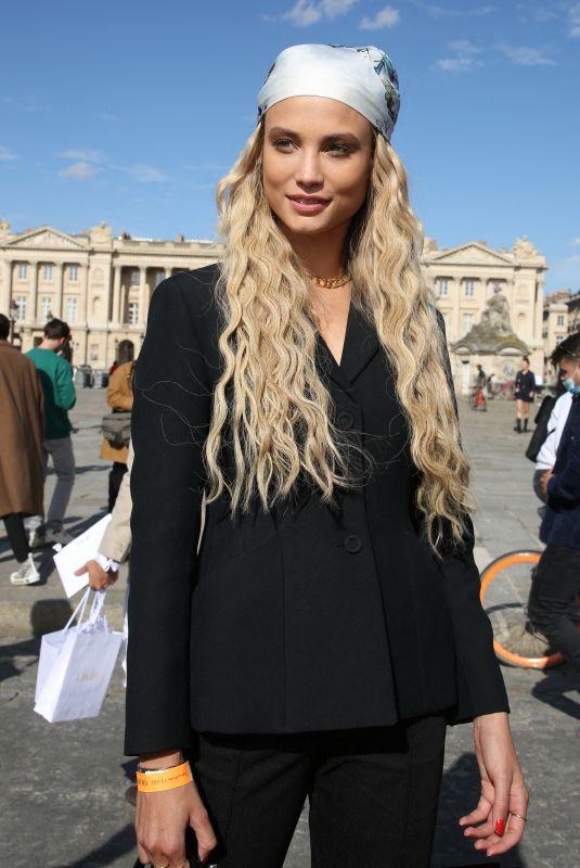 ROSE BERTRAM Arrives at Dior Fashion Show in Paris 09/28/2021