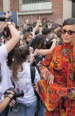RYM SAIDI BREIDY Arrives at Fendi Fashion Show in Milan 09/22/2021
