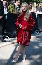 SABRINA CARPENTER Arrives at Michael Kors Spring/Summer 2022 Show at New York Fashion Week 09/10/2021
