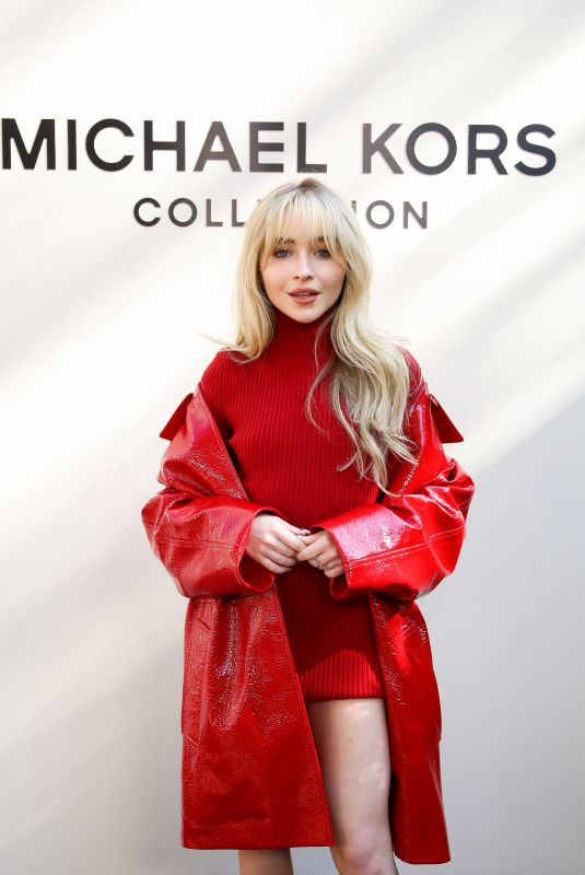 SABRINA CARPENTER at Michael Kors Fashion Show in New York 09/10/2021