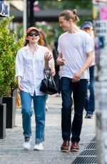 SADIE SINK Out with a Male Friend in New York 09/18/2021