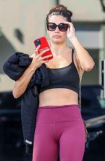 SARA SAMPAIO Leaves a Gym in Los Angeles 09/20/2021