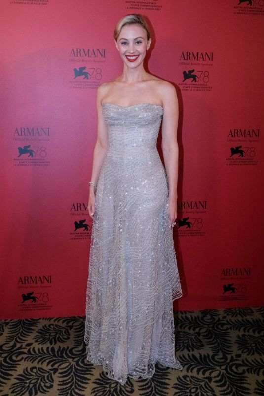 SARAH GADON at Armani Dinner at 78th Venice International Film Festival 09/04/2021