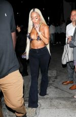 SAWEETIE Out for Dinner at Catch LA in West Hollywood 09/18/2021
