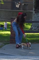 SCOUT WILLIS Out with Her Dog at a Park in Glendale 09/06/2021