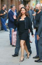 SELENA GOMEZ Arrives at Tonight Show with Stephen Colbert in New York 09/07/2021