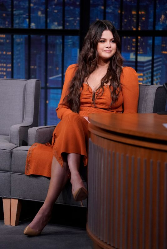 SELENA GOMEZ at Late Night with Seth Meyers 09/08/2021