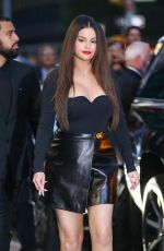 SELENA GOMEZ Leaves Tonight Show with Stephen Colbert in New York 09/07/2021