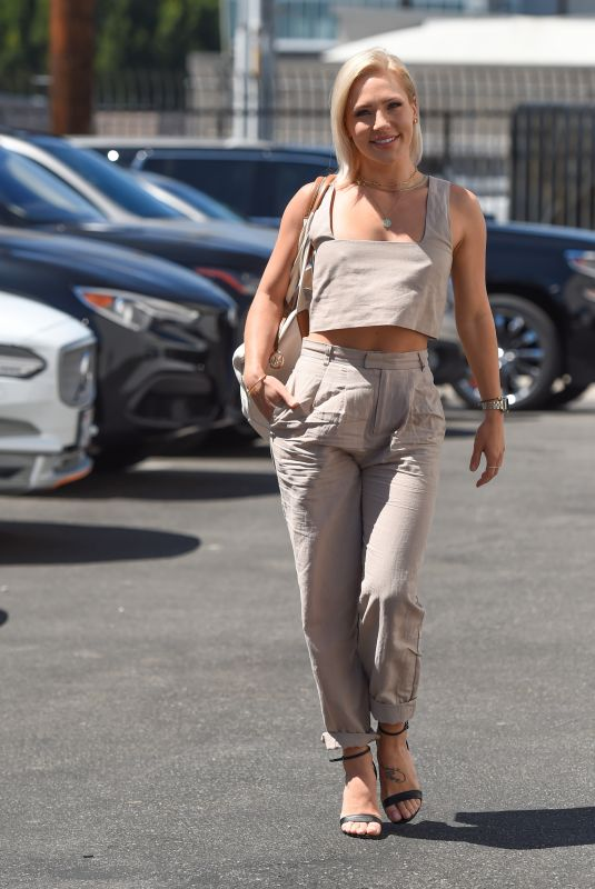 SHARNA BURGESS at Dancing With the Stars, Season 30 Rehearsals in Los Angeles 09/04/2021