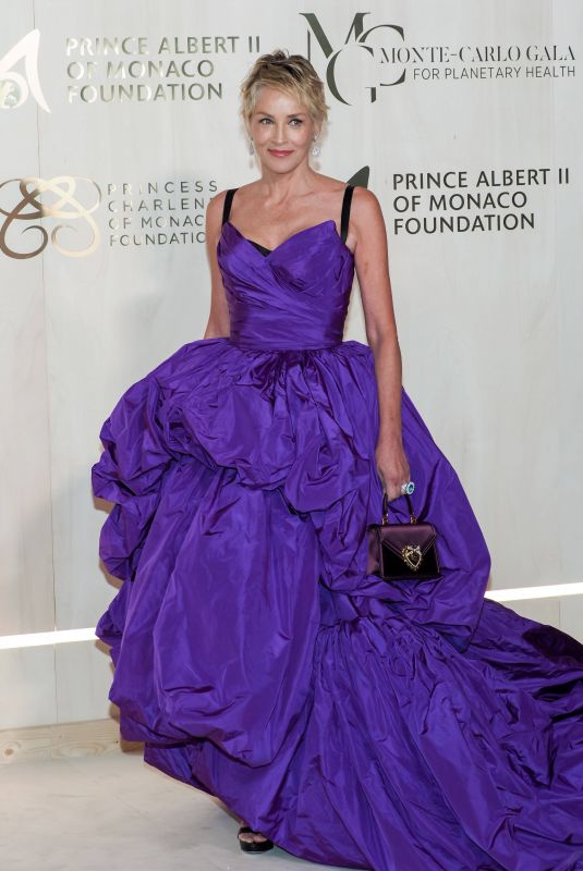 SHARON STONE at 2021 Monte-Carlo Gala for Planetary Health 09/23/2021