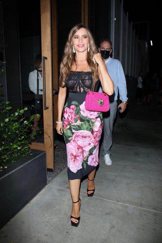 SOFIA VERGARA at Soulmate Restaurant in West Hollywood 09/16/2021