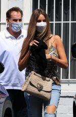 SOFIA VERGARA in Ripped Denim Leaves a Spa in West Hollywood 09/17/2021