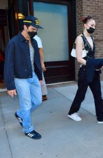 SOPHIE TURNER and Joe and Nick Jonas Head to Their Concert in New York 09/24/2021